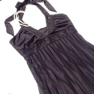NWT Love Tease beaded pleated dress